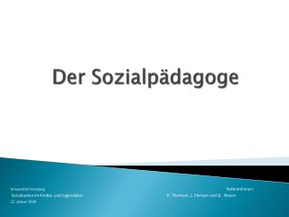 Der Sozialp dagoge
