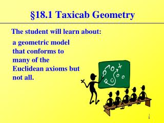 18.1 Taxicab Geometry
