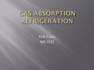 GAS ABSORPTION PRINCIPLES