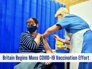 Britain begins mass COVID-19 vaccination effort