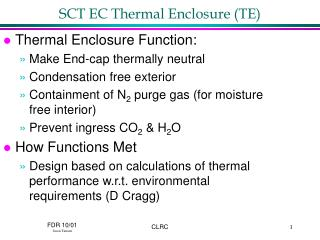 SCT EC Thermal Enclosure TE