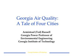 Georgia Air Quality: A Tale of Four Cities