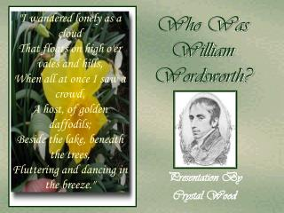 Who Was William Wordsworth