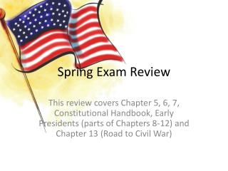 Spring Exam Review