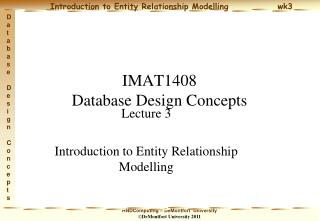 IMAT1408 Database Design Concepts