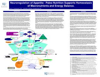 Neuroregulation of Appetite:  Paleo Nutrition Supports Homeostasis of Macronutrients and Energy Balance.   David C. Pend