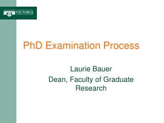 PhD Examination Process