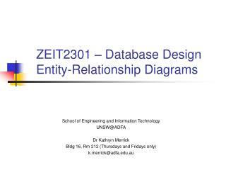 ZEIT2301   Database Design Entity-Relationship Diagrams