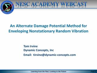 An Alternate Damage Potential Method for Enveloping Nonstationary Random Vibration