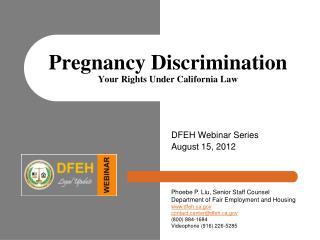 Pregnancy Discrimination  Your Rights Under California Law