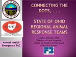 Connecting the dots, . . .  State of Ohio regional Animal Response TEAMS