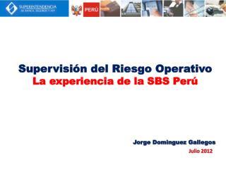 Supervisi n del Riesgo Operativo La experiencia de la SBS Per