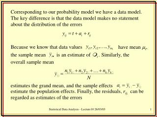 Statistical Data Analysis - Lecture10 26