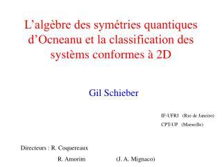 L alg bre des sym tries quantiques d Ocneanu et la classification des syst ms conformes   2D