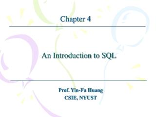Embedded SQL