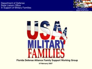 Department of Defense State Liaison Office In Support of Military Families