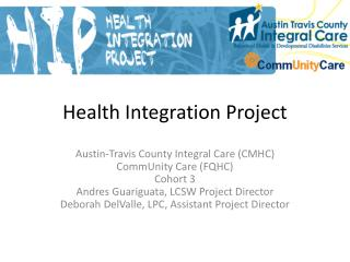 Health Integration Project