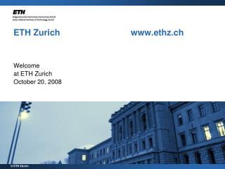 ETH Zurich     ethz.ch