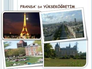 FRANSA  da Y KSEK GRETIM