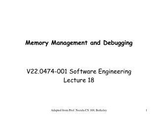 Memory Management and Debugging