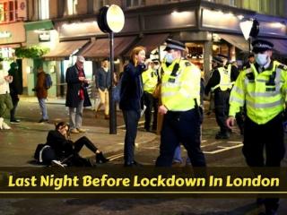 Last night before lockdown in London