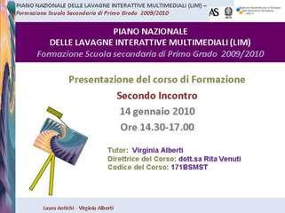 presentazione secondo incontro-formazione LIM-corso Rovato