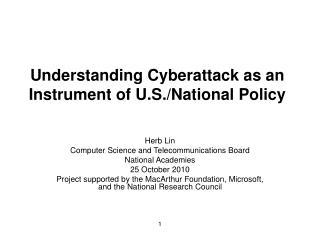 Understanding Cyberattack as an Instrument of U.S.