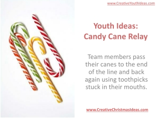 Youth Ideas: Candy Cane Relay