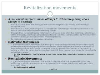 Revitalization movements