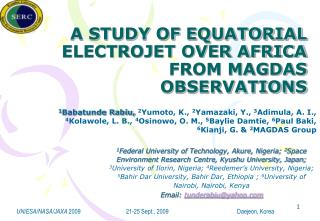 A STUDY OF EQUATORIAL ELECTROJET OVER AFRICA FROM MAGDAS OBSERVATIONS