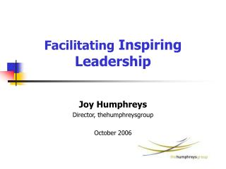Facilitating Inspiring Leadership