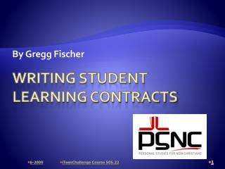 Writing Student Learning Contracts
