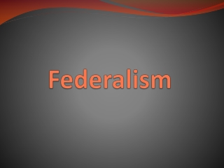 Federalism in the Constitution