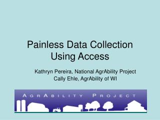 Painless Data Collection Using Access