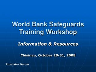 World Bank Safeguards Training Workshop