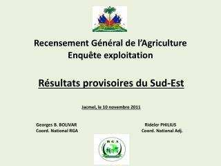 Recensement G n ral de l Agriculture