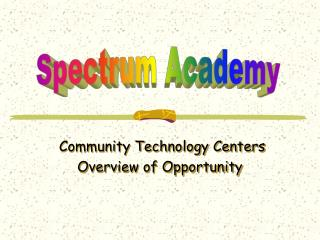 Community Technology Centers
