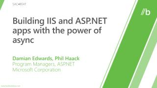 Building IIS and ASP apps with the power of async