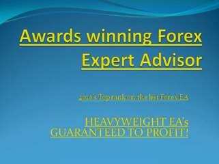 Awards winning forex Expert Advisors