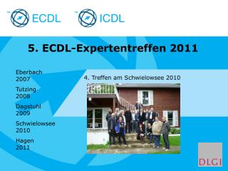 5. ECDL-Expertentreffen 2011
