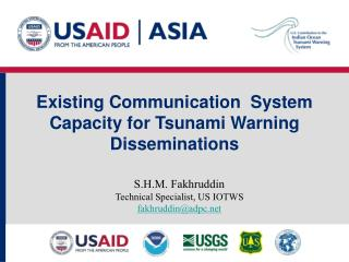 Existing Communication  System Capacity for Tsunami Warning Disseminations