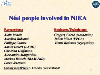 N el people involved in NIKA