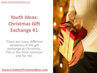 Youth Ideas: Christmas Gift Exchange #1