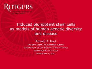 Induced pluripotent stem cells as models of human genetic diversity and disease