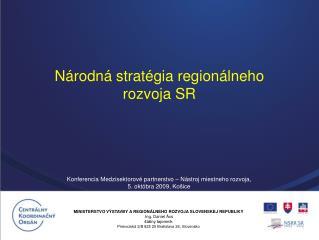 N rodn  strat gia region lneho rozvoja SR