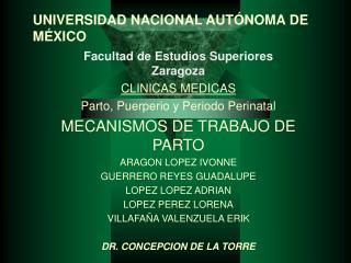 UNIVERSIDAD NACIONAL AUT NOMA DE M XICO