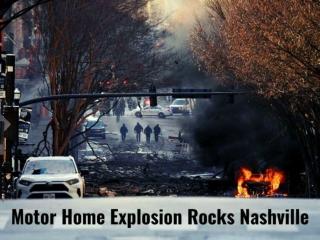 Motor home explosion rocks Nashville