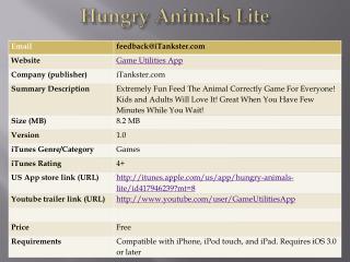 Hungry Animals Lite