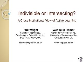 Indivisible or Intersecting