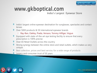 Why Choose Online Shopping Eyewear from Gkboptical.com
